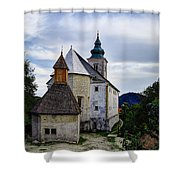 Church Of The Mother Of God Shower Curtain