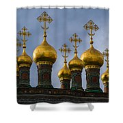 Church Of The Nativity Of Moscow Kremlin - Square Shower Curtain