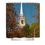 Church Of The Redeemer  From The Lexington Battlefield Shower Curtain