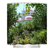 Church Of The Seven Apostles In Capernaum Israel Shower Curtain