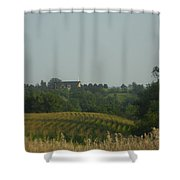 Church On A Hill Shower Curtain