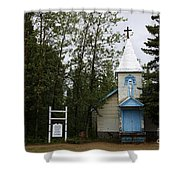 Church On Alaskan Highway Shower Curtain
