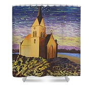 Church On The Rocks.  Shower Curtain