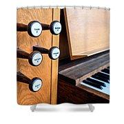 Church Organ Keyboard Shower Curtain