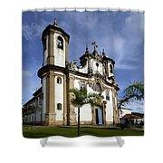 Church Ouro Preto Brazil 5 Shower Curtain