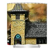 Church Painted Effect Shower Curtain