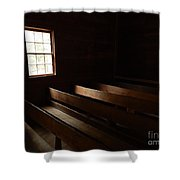 Church Pews Shower Curtain