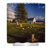 Church Potlatch Idaho 1 Shower Curtain