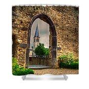 Church Ruins In Boppard Germany Shower Curtain