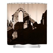 Church Ruins Shower Curtain