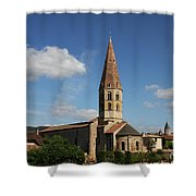 Church Saint Marcel - Cluny Shower Curtain