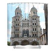 Church Saint Michel - Dijon Shower Curtain
