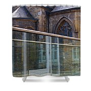 Church Seen Through A Transperant Screen  Shower Curtain