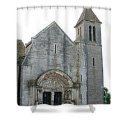 Church St Thibault- Burgundy Shower Curtain