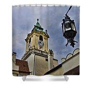 Church Steeple - Bratislava Slovakia Shower Curtain