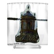 Church Steeple In Ecija Spain Shower Curtain