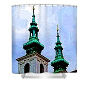 Church Steeples - Bratislava Shower Curtain