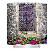 Church Window In Brittany Shower Curtain