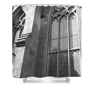Church Windows And Subway Posts Shower Curtain