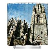 Church With An Eerie Feel Shower Curtain