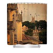 Churches In Town Shower Curtain