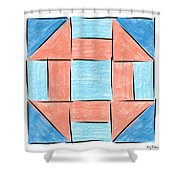 Churn Dash Block Shower Curtain
