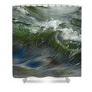 Churning Waters Shower Curtain
