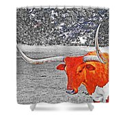 Cibolo Longhorn Shower Curtain