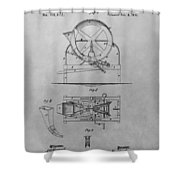 Cider Mill Patent Drawing Shower Curtain