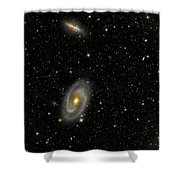 Cigar Galaxy And Bodes Galaxy Shower Curtain