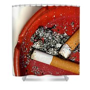 Cigarette Butts Shower Curtain