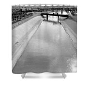Cigarette Venders Rio Grande River Separating El Paso And Juarez 1977 Shower Curtain