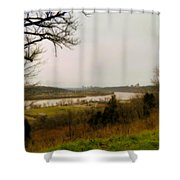 Cincinnati And The Ohio River Looking West Shower Curtain