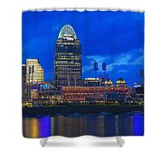 Cincinnati At Sunset Shower Curtain