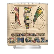 Cincinnati Bengals Logo Vintage Shower Curtain
