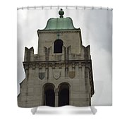 Cincinnati Church With Angel Carving And Bronze Cross Shower Curtain