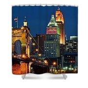 Cincinnati Close Up Shower Curtain