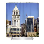 Cincinnati Downtown City Buildings Business District Shower Curtain