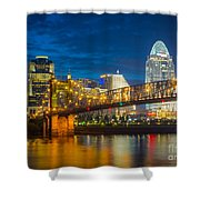 Cincinnati Downtown Shower Curtain