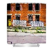 Cincinnati Glencoe Auburn Place Graffiti Photo Shower Curtain