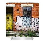 Cincinnati Glencoe Auburn Place Graffiti Picture Shower Curtain