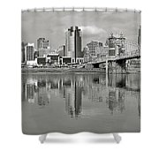 Cincinnati Monochrome Shower Curtain