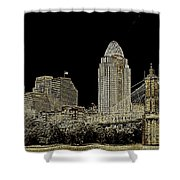 The Queen City Cincinnati Ohio Shower Curtain