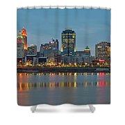 Cincinnati On The Riverfront Shower Curtain