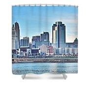 Cincinnati Panorama Shower Curtain