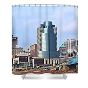 Cincinnati Panoramic Skyline Shower Curtain