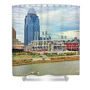 Cincinnati Reds Ballpark 9870 Shower Curtain