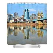Cincinnati Reflects Shower Curtain