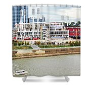 Cincinnati Riverfront 9870 Shower Curtain