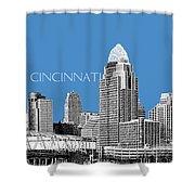 Cincinnati Skyline 1 - Slate Shower Curtain
